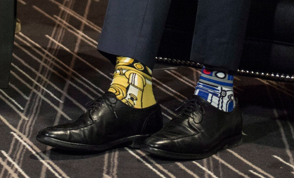 Canadian prime minister, Justin Trudeau, socks, canada, star wars, may 4