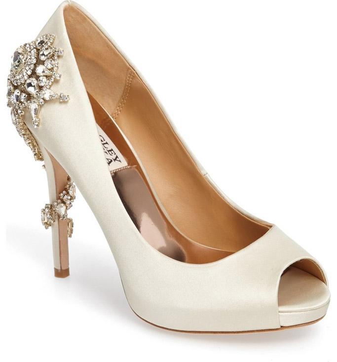 Badgley Mishka, wedding shoes, bridal shoes, crystal, bling, meghan markle fashion
