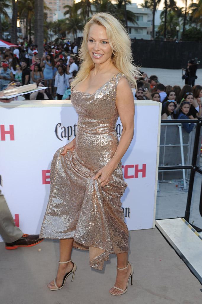 baywatch movie 2017 red carpet Pamela Anderson