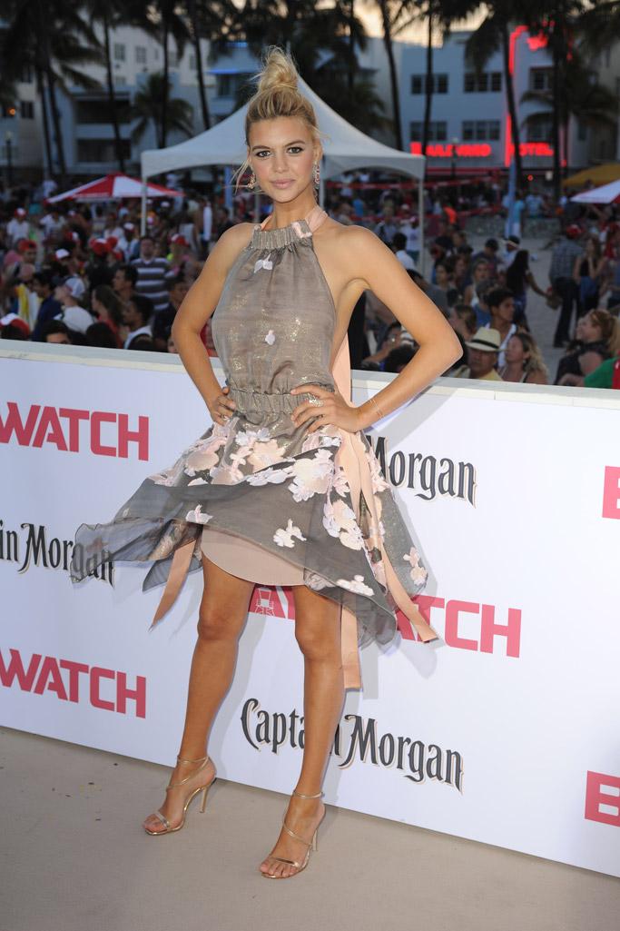 baywatch movie 2017 red carpet Kelly Rohrbach sandals feet