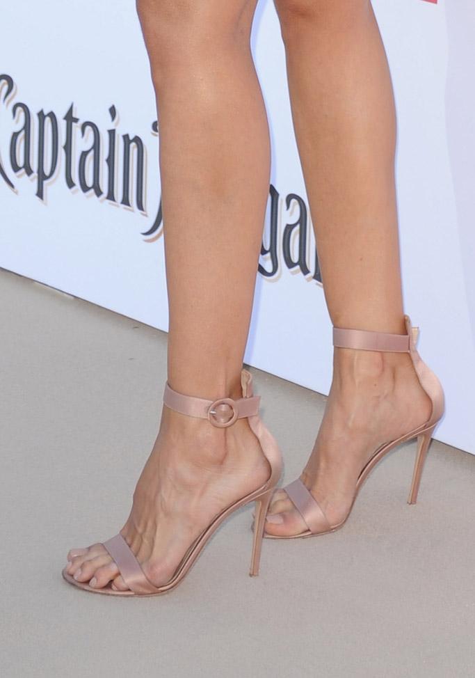 baywatch movie 2017 red carpet Izabel Goulart Gianvito Rossi Portofino sandals feet