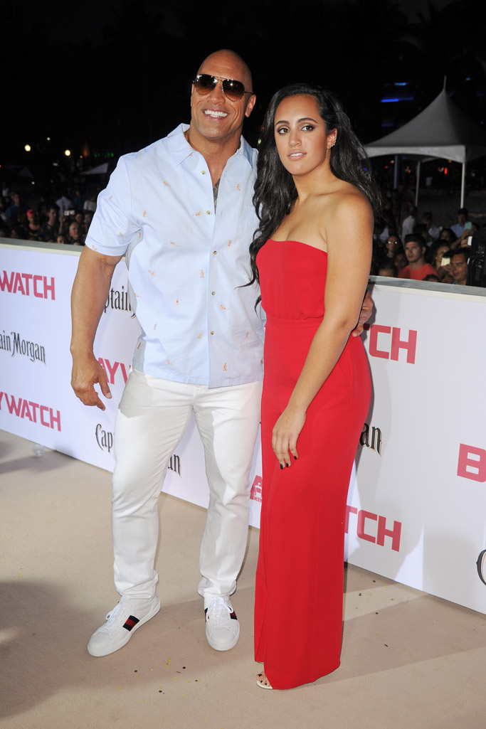 baywatch movie 2017 red carpet Dwayne Johnson wife Simone Johnson