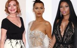 Lindsay Lohan, Bella Hadid, nicki minaj,