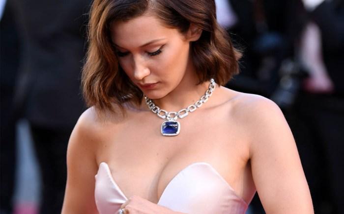 Bella Hadid wardrobe malfunction underwear cannes film festival 2017