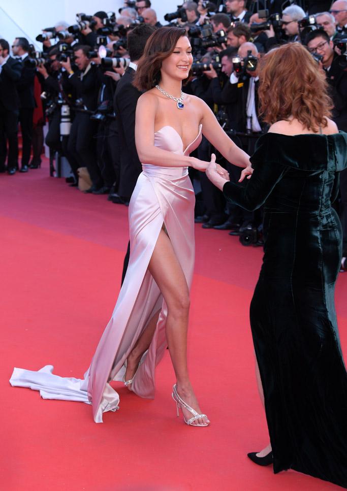 2017 Cannes Film Festival wardrobe malfunction bella hadid