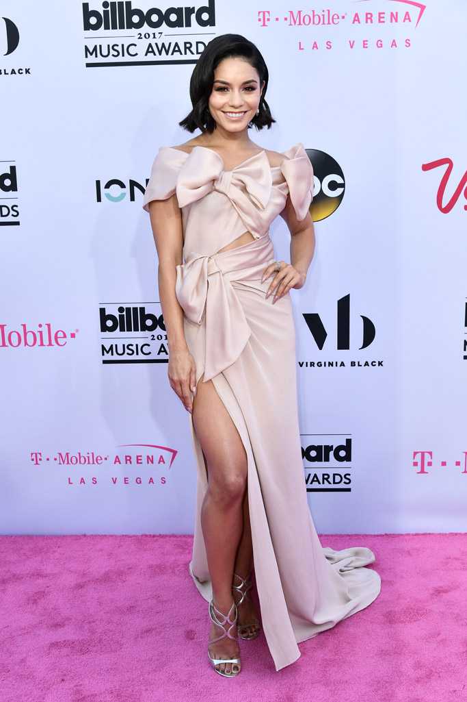 billboard music awards, red carpet, 2017, celebrities, fashion, style, dress, shoes, vanessa hudgens