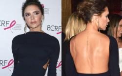 Victoria Beckham tattoo back 2017 Breast