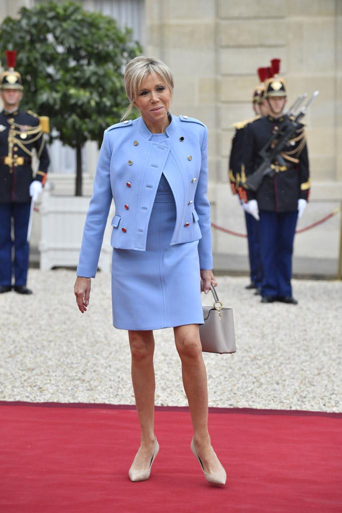 Brigitte Macron President Of France S Wife Style Photos Footwear News