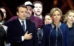 Emmanuel Macron Brigitte Trogneux france president