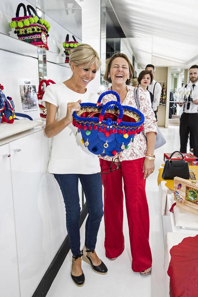 Brigitte Macron, Brigitte Trogneux, france, first lady, g7 summit, style, fashion, shoes