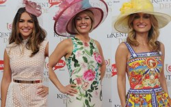 celebrities red carpet fashion kentucky derby