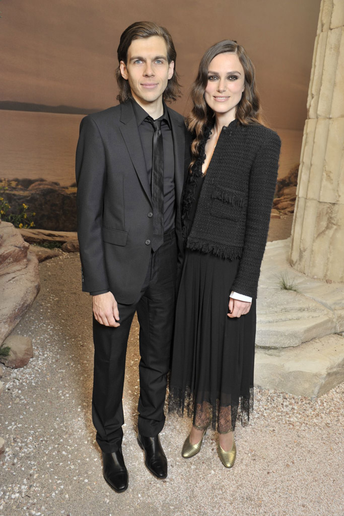 James Righton and Keira Knightley chanel cruise resort collection 2018 paris runway shoes celebrities front row Grand Palais