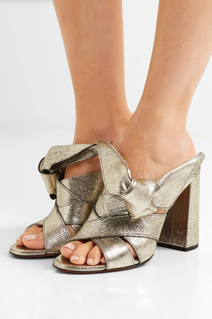 Chloe knotted mules