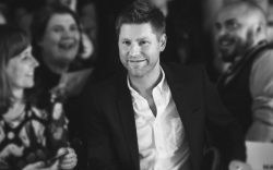 Christopher Bailey and guestStudent Fashion Week,