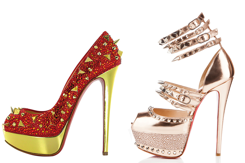 from left to right: Very Mix Louboutin Heels and Christian Louboutin for Rodarte Fall 2008 Isolde heels (reworked)