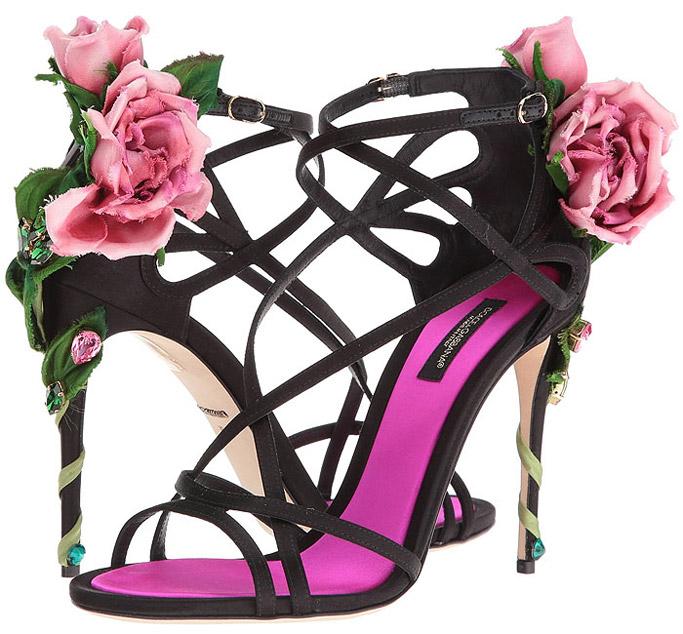 dolce & gabbana, kira sandals, rose, d&g