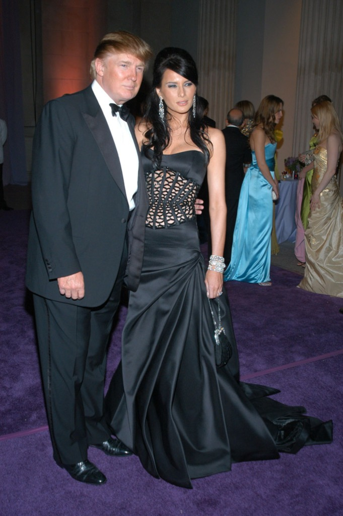 Melania and Donald Trump, met gala, red carpet, 2004, celebrity style