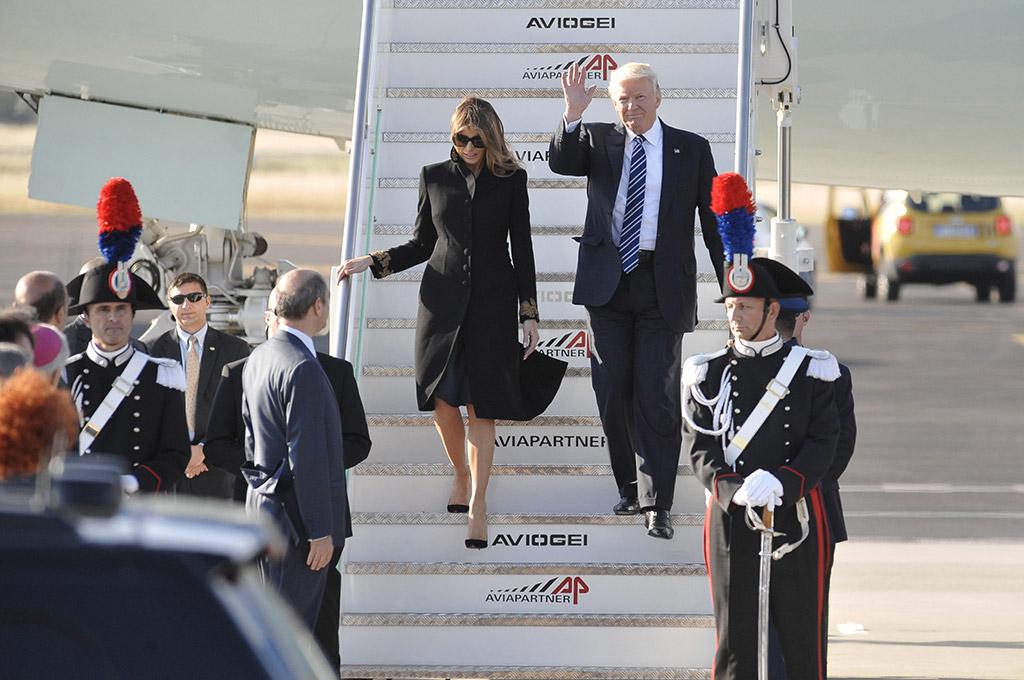 Melania Trump, Donald Trump, Italy trip