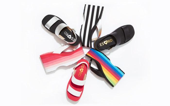 Elizabeth Saltzman Rocket Dog platforms sandals flip flops 90s jennifer aniston friends