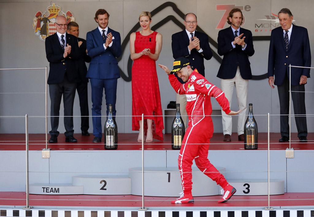 f1, monaco grand prix, monte carlo, style, fashion, dress, shoes, sandals, Ferrari driver Sebastian Vettel of Germany