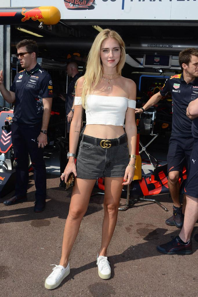 f1, monaco grand prix, monte carlo, style, fashion, dress, shoes, sandals, Chiara Ferragni