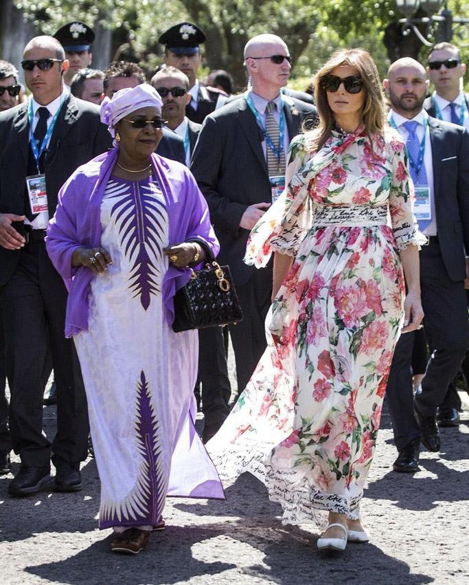 melania trump, fashion, dress, style, shoes, donald trump, first lady, dolce & gabbana, Emanuela Mauro