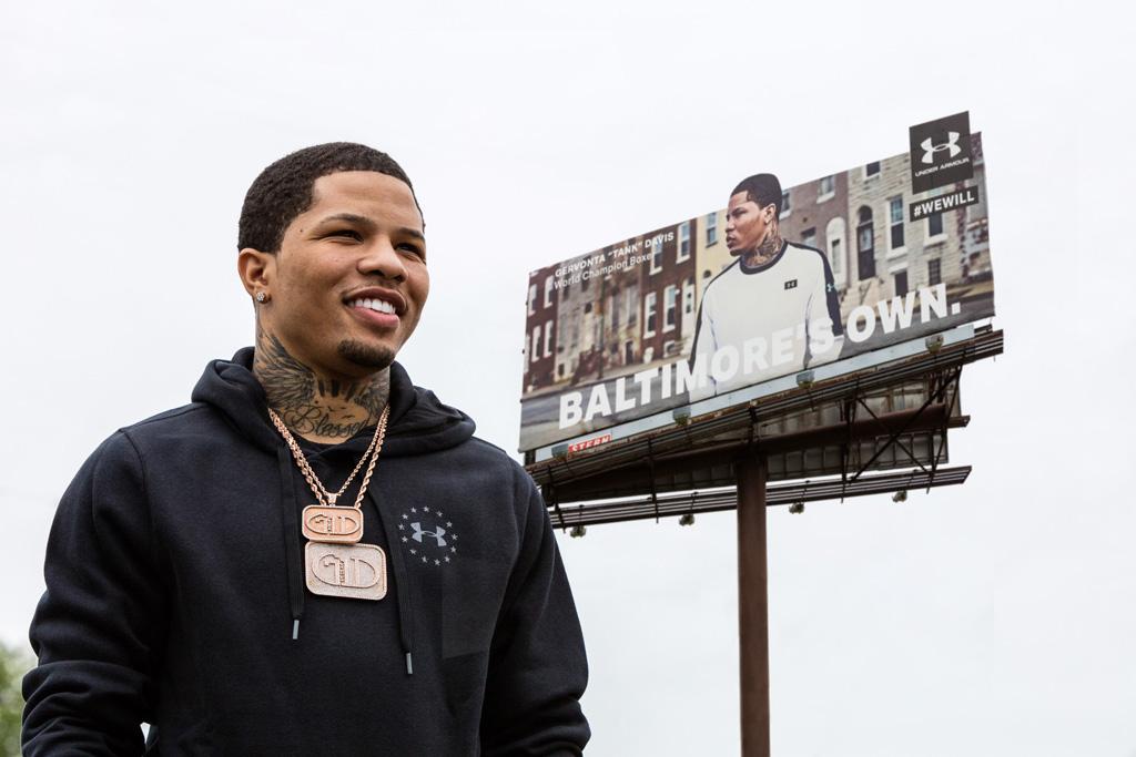 Gervonta Davis Under Armour billboard Baltimore