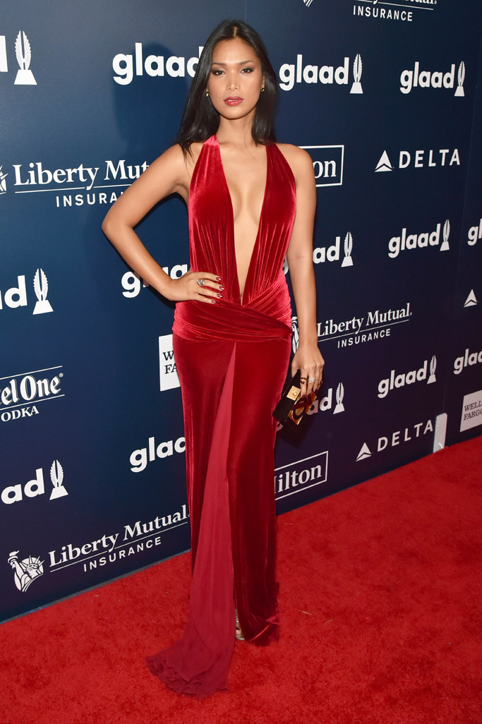 Geena Rocero glaad media awards red carpet 2017 new york city nyc fashion style shoes dress