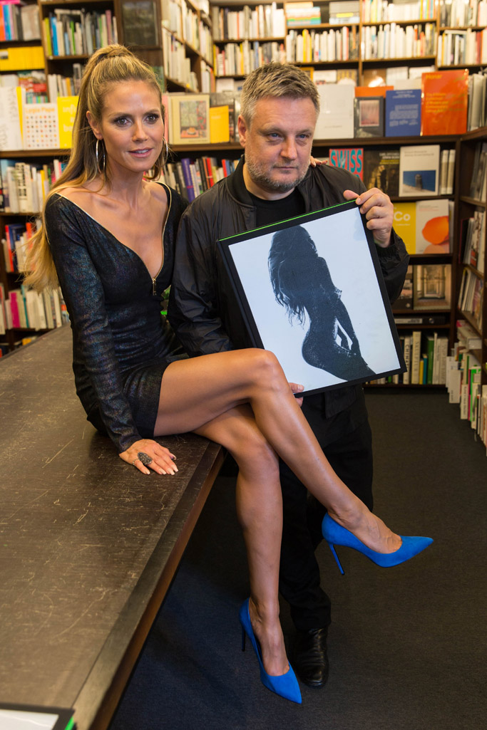 Heidi Klum by Rankin, heidi klum, rankin, book, model, photos, nude, naked, saint laurent, paris skinny pumps