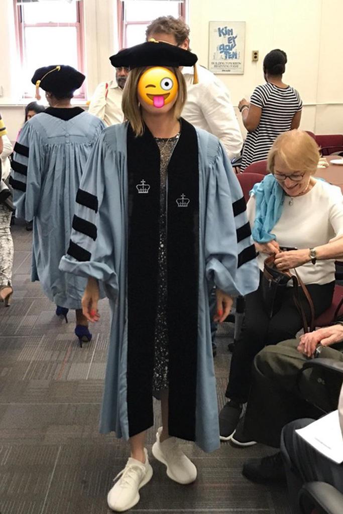 Mom Graduates in Yeezys