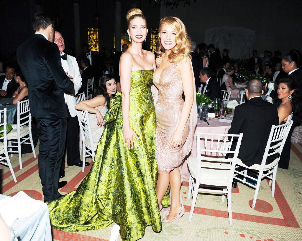 met gala ivanka trump dress shoes fashion style red carpet blake lively 2014