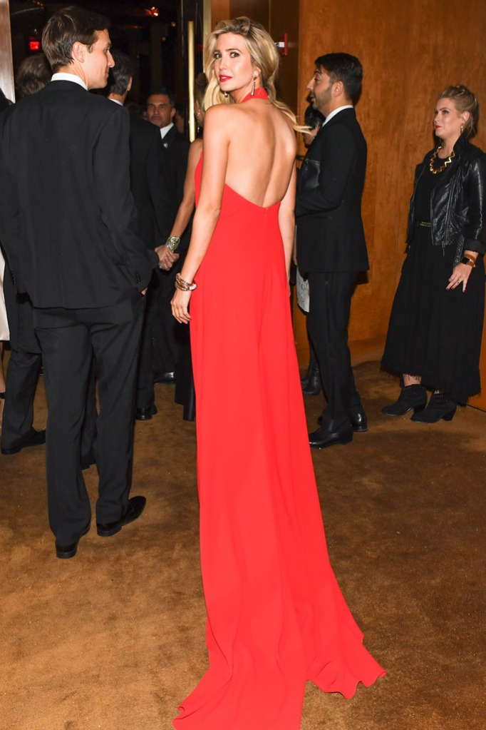 Ivanka Trump, met gala, 2016, red dress
