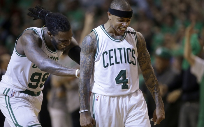Jae Crowder Isaiah Thomas Boston Celtics