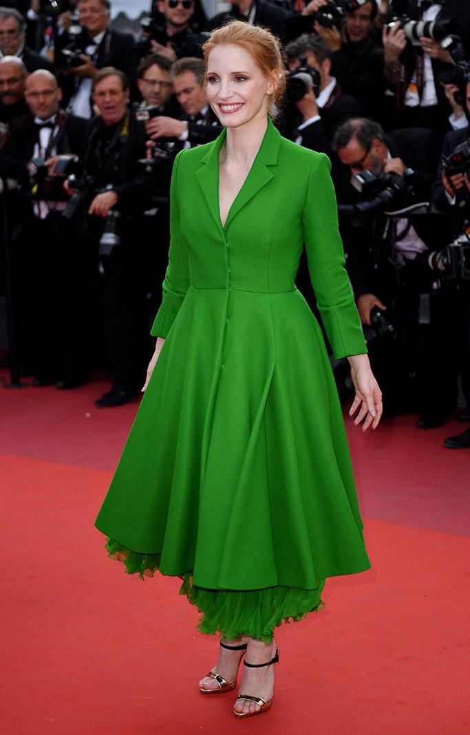 Jessica Chastain Cannes Film Festival Dior