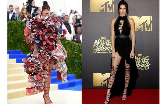 Kendall Jenner Rihanna Dsquared2 Sandals