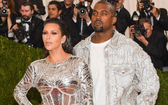 Kim Kardashian Kanye West Met Gala