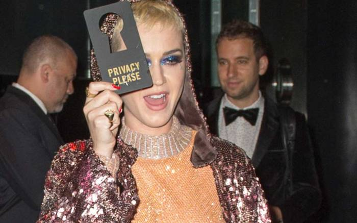 Katy Perry attends the Met Gala after-party.