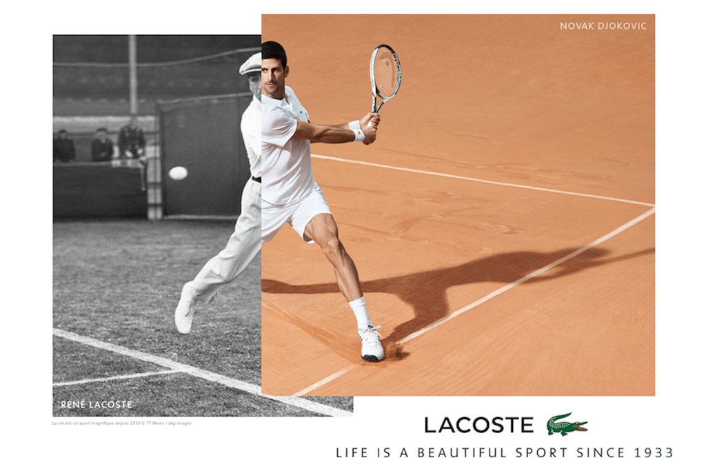 Novak Djokovic for Lacoste