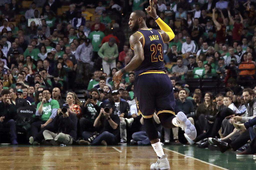 LeBron James in the Nike LeBron 14