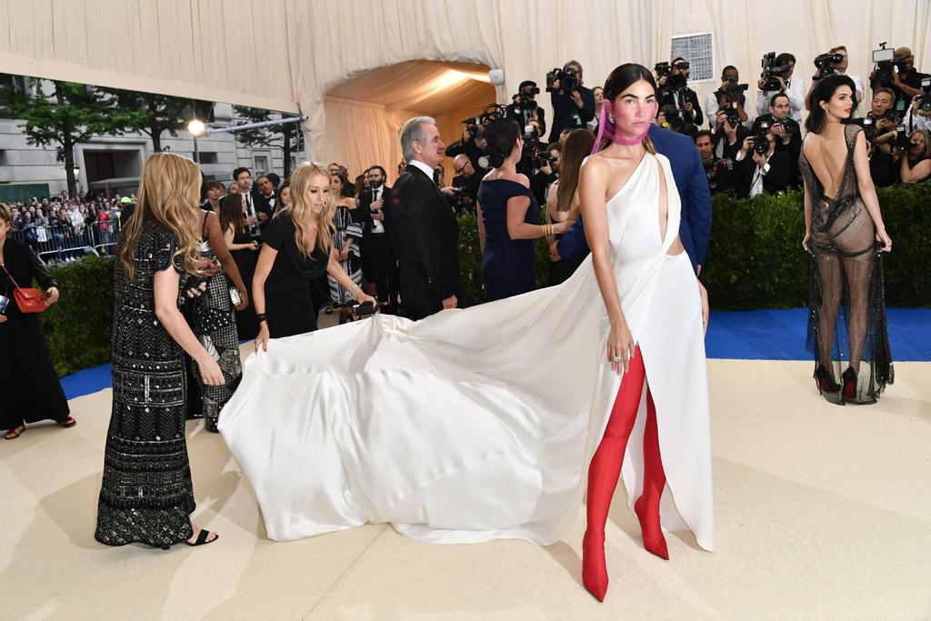Lily Aldridge 2017 Met Gala Balenciaga boots
