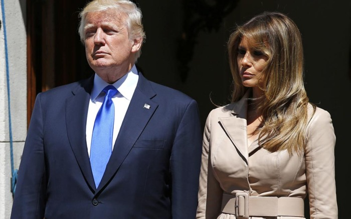 melania trump, first lady, shoes, dress, heels, snakeskin, donald trump, manolo blahnik, pumps, brussels, Queen Fabiola Children's Hospital