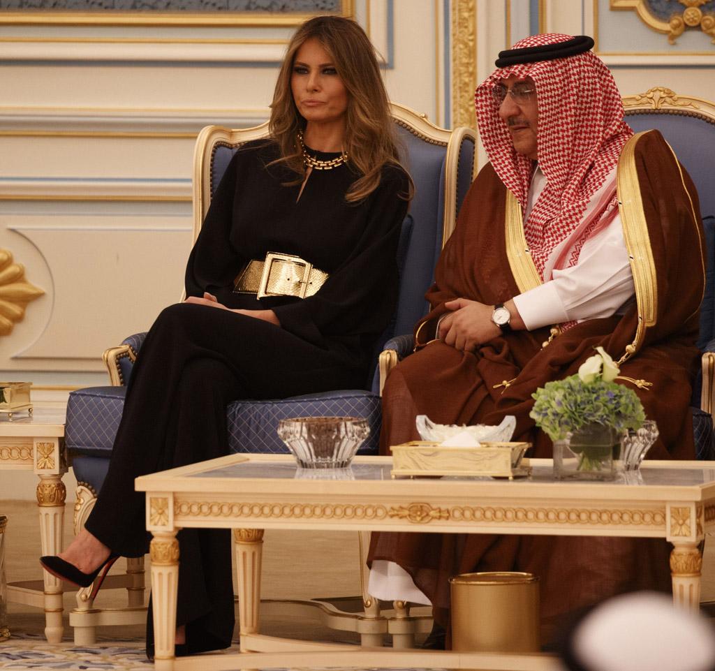 Melania Trump, donald trump, christian louboutin, shoes, saudi arabia, king salman, fashion, style, first lady