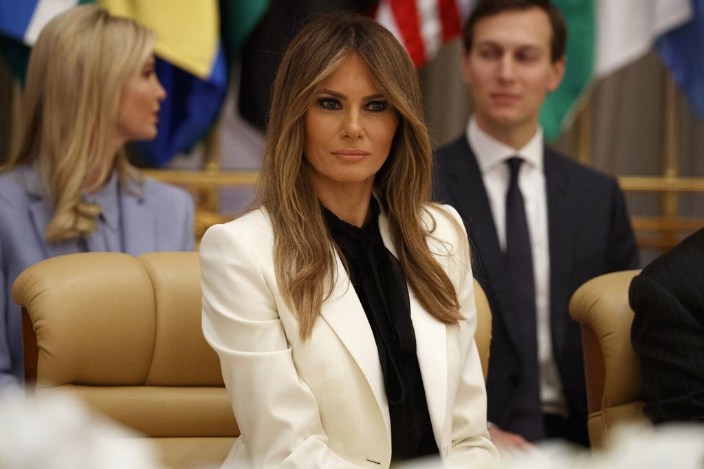 melania trump, fashion, style, first lady, saudi arabia, donald trump, ivanka trump