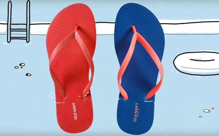 Old Navy, flip flop, sale, $1, sandals