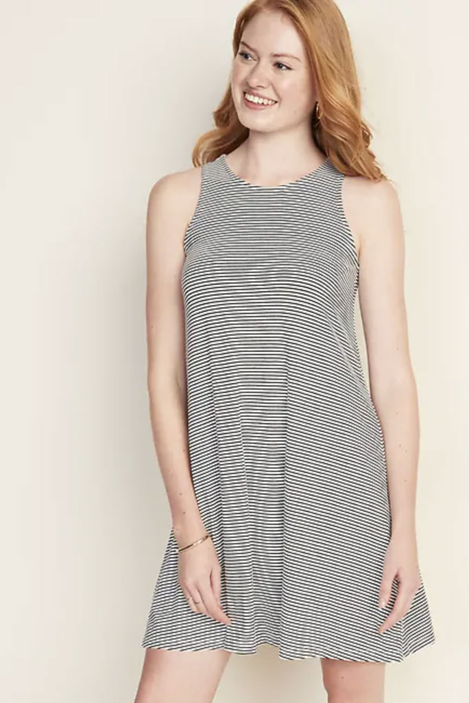 old navy, stripe dress,