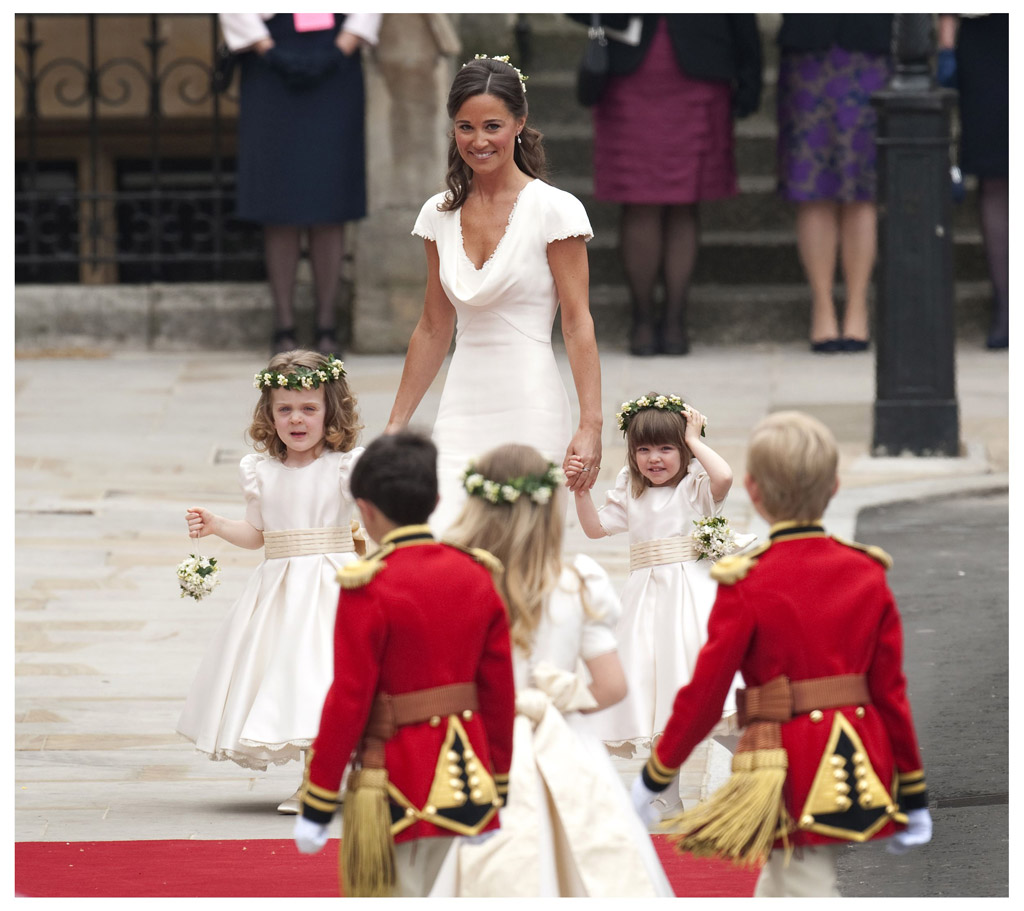 pippa middleton, kate middleton, wedding 2011, bridal party