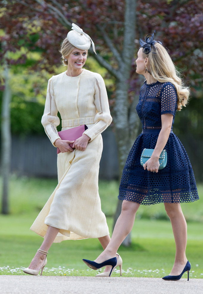 kate middleton, pippa middleton, james matthews, wedding, donna air, guests, hats, high heels, fashion, style