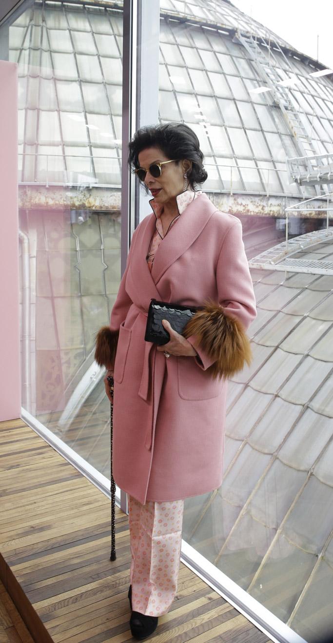 Bianca Jagger prada cruise resort collection 2018 front row celebrities courtney love susan sarandon