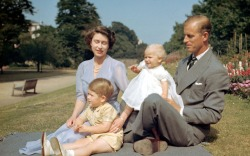 Queen Elizabeth II and Prince Philip With Their Children