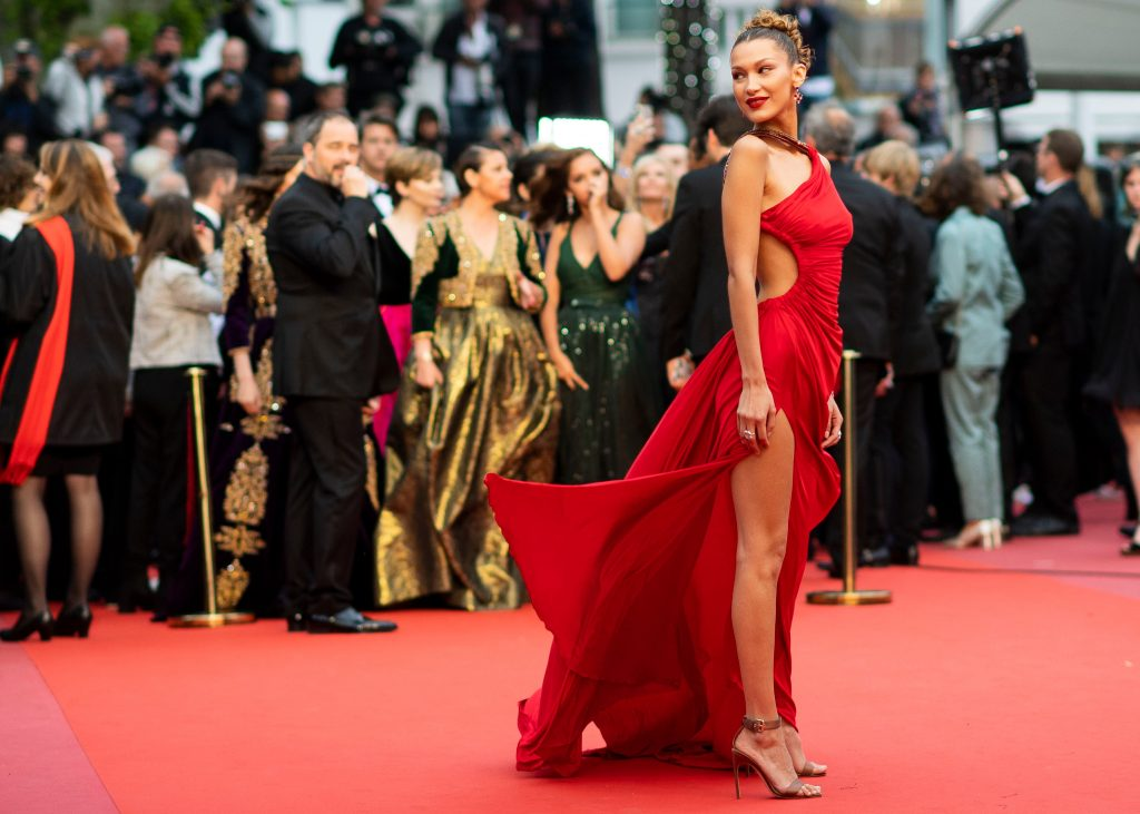 Bella Hadid poses for photographers upon arrival at the premiere for the film 'Pain and Glory' at the 72nd international film festival, Cannes, southern France'Pain and Glory' premiere, 72nd Cannes Film Festival, France - 17 May 2019